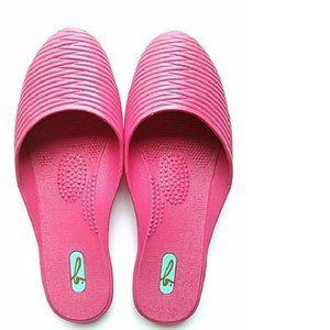 New Oka-B Womens Slip on Flat Sandals, Fuchsia, ML